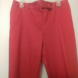 Very pretty red Capris/worn once excellent conditi